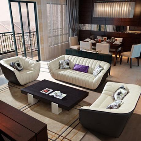 真皮沙发 头层皮沙发 客厅沙发 组合 家具 大三人位