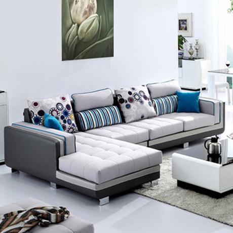 布艺沙发 皮布沙发 组合 客厅沙发 三人沙发 易清洁 可拆洗