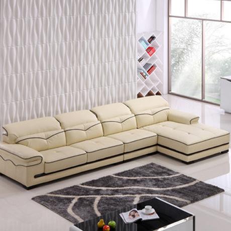 皮沙发 现代简约真皮沙发 客厅沙发 组合 单人位+三人位+左